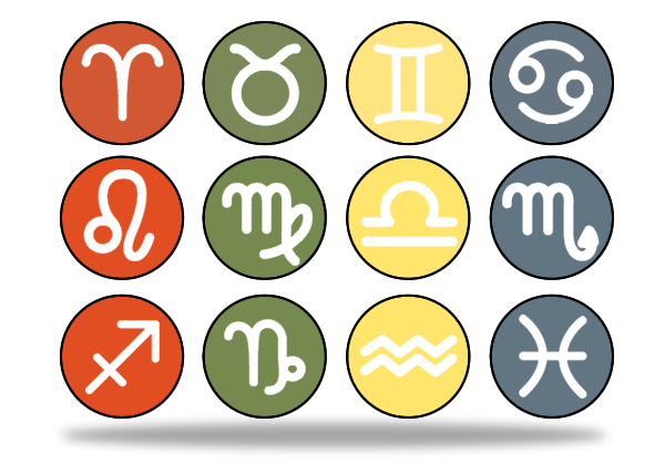 Illustration Of the Zodiac Astrology Horoscope Signs